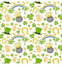 Seamless Saint Patricks Day Background vector image vector image