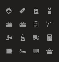 Shopping - flat icons vector