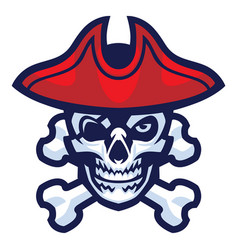 skull of pirate vector image vector image