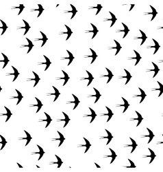 Swallow bird seamless pattern on a white vector