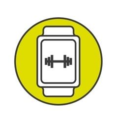 Usefull app for smartwatch vector