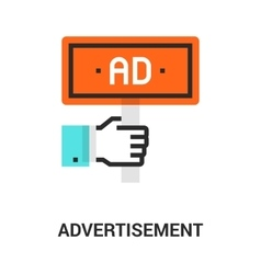 Advertisement icon concept vector