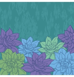Background flowers narcissus vector image