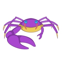 Crab with big claw icon cartoon style vector