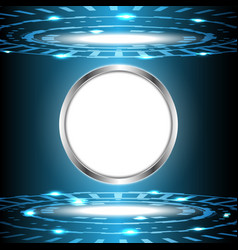 Abstract technology digital circle with white vector