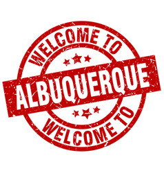 Welcome to albuquerque red stamp vector