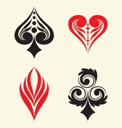 Playing card simple ornament vector