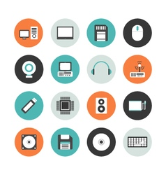 413flat computer equipment iconvs vector