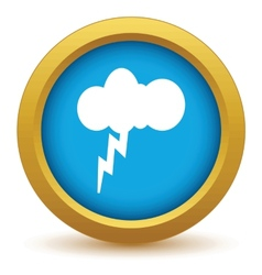 Gold storm icon vector