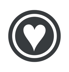 Round black hearts sign vector