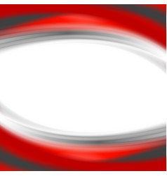 Grey and red waves on white background vector
