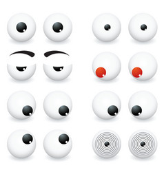 eye ball cartoon vector image