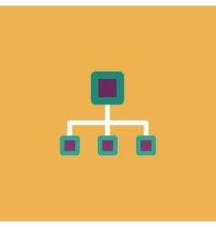 Network block diagram vector