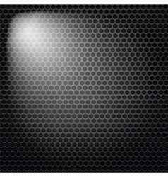 Dark iron perforated background vector