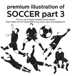 Premium soccer part 3 vector