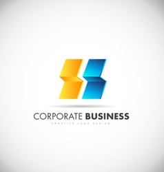 Abstract corporate business logo vector