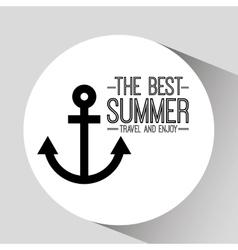 Anchor card best summer travel and enjoy vector
