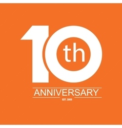 anniversary icon with abstract elements vector image