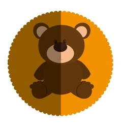 Bear teddy toy icon vector