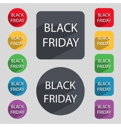 Black friday sign icon Sale symbolSpecial offer vector image