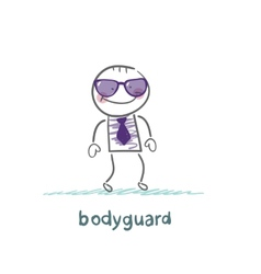 Bodyguard goes to work vector
