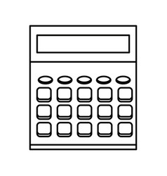 calculator school education electronic digital vector image vector image