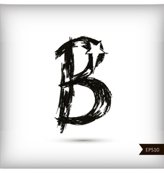 Calligraphic watercolor letter B vector image