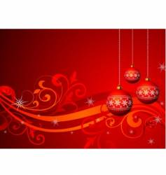 christmas illustration with red ball vector image vector image