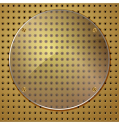 Circle on gold vector