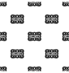 Circus banner icon in black style isolated on vector