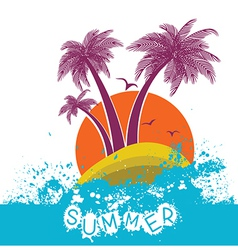 Color symbol of tropical island vector image vector image