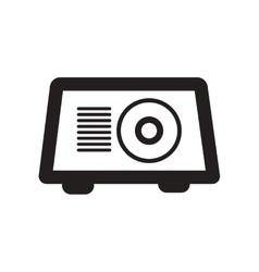 Flat icon in black and white style toaster vector
