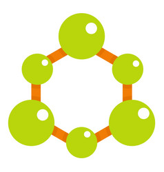 green molecule structure icon isolated vector image vector image