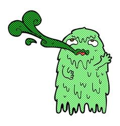 Gross comic cartoon ghost vector