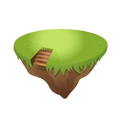 Icon island vector