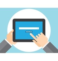 Internet search page on the tablet computer vector image vector image