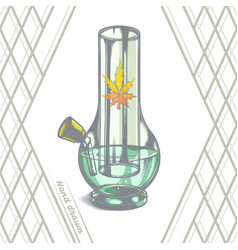 large glass bong vector image vector image