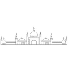 Line art mosques landscape vector