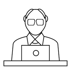 Male consultant icon outline style vector