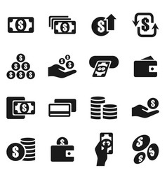 money an icon6 vector image vector image