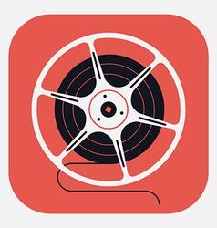 Movie reel icon vector