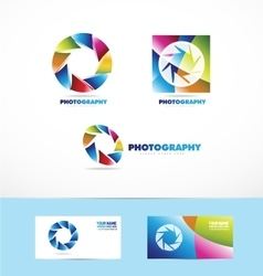 Photography shutter diaphragm logo icon vector