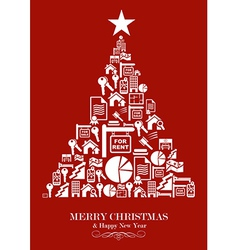 Real estate industry Christmas Tree vector image vector image