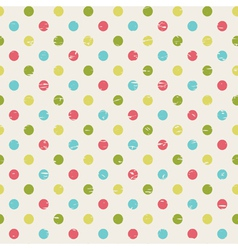 retro seamless pattern with polka dots vector image vector image