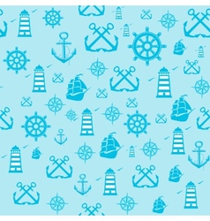 sample Pattern Seamless with Marine vector image vector image