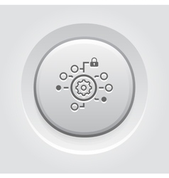 Security Settings Icon Grey Button Design vector image