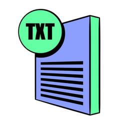 txt file icon cartoon vector image