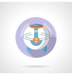 Ultrasonic humidifier flat round icon vector