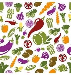 Vegetable seamless pattern vector