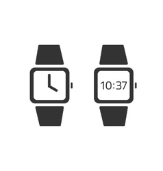 Watch icon isolated wristwatches digital vector image